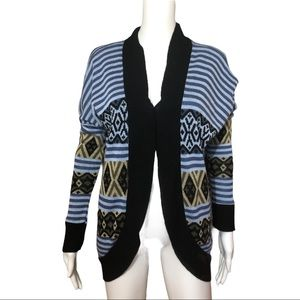 Charlotte Russe Open Front Blue Cardigan